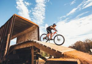 Railyard Bike Park Rail Car