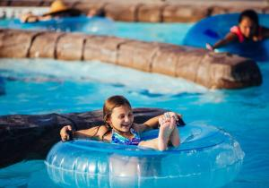 Beat the head at Rogers Aquatics Center with slides and splash pads for the kids, and lap pools and lazy rivers for the adults