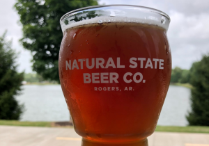 Natural State Beer Co pint glass