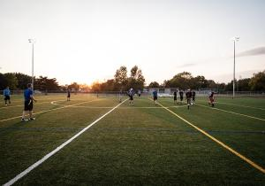 Rogers has state of the art sports facilities, including turf fields that can be used for football, soccer, lacrosse, and more.