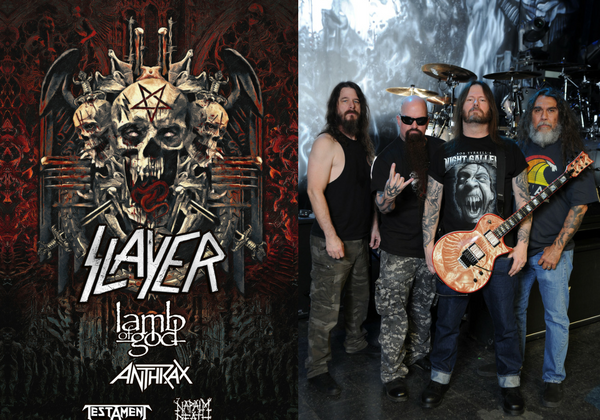 American thrash metal band Slayer will perform with special guests Lamb of God, Anthrax, Testament and Napalm Death at the Walmart AMP as part of the 2018 Cox Concert Series.
