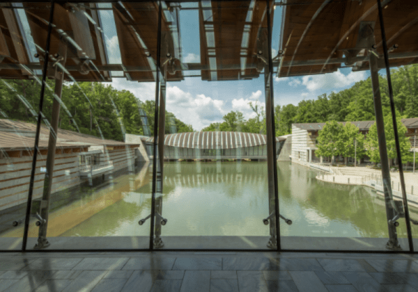 Crystal Bridges offers breathtaking views throughout the entire museum
