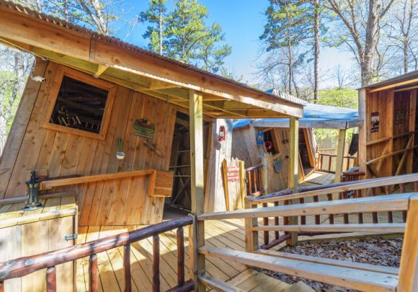 War Eagle Cavern's Moonshiners' Mystery Shack