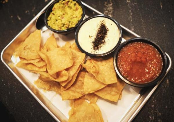 Chips and Queso, Guac, Salsa - Picture Credit Brad Stallcup with Minim Design Co