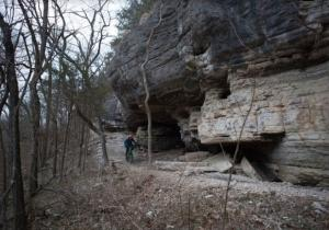 Blowing Springs Trail in Bella Vista AR` - Mountain bike or hike to get your chance to see incredible caves, springs, and cliffs along the way.