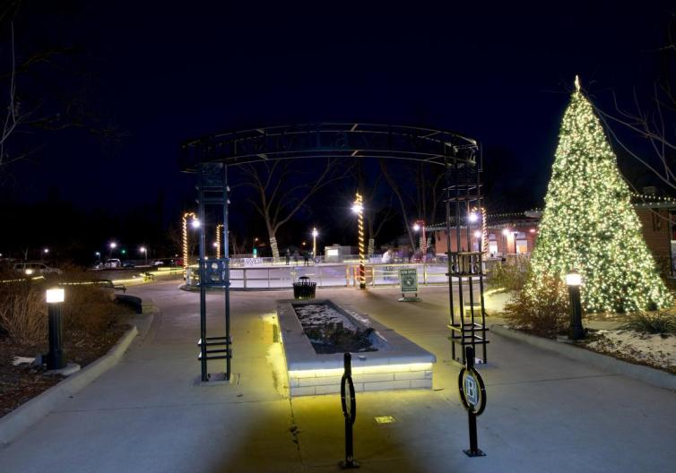 After a day or shopping and holiday activities, bring the kids to Northwest Arkansas to go ice skating in Bentonville