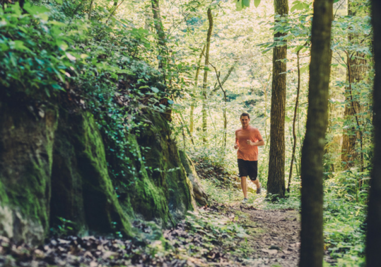 Rogers AR has a variety of running trails, including both paved and not paved trails.