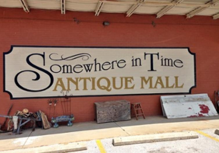 Somewhere in Time Antique Mall has so much awesome stuff that it spills out onto the sidewalks outside. If you're looking for rusty, chippy, and fresh-from-the-barn items, this is a great spot