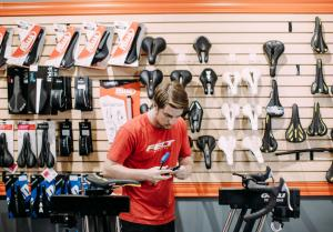 GPP Cycling shop is at the heart of the Rogers biking community. In addition to being a full-service bike shop, it hosts group rides, and afterwards riders can sit on the back patio with a beer.