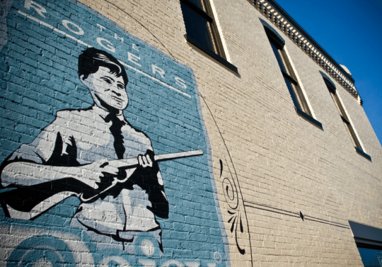 Explore downtown Rogers by taking pictures at one of our many murals